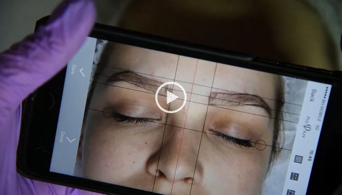 PhiShading, Microblading, ombre, shading, brows, eyebrows, powder, Eye Designer