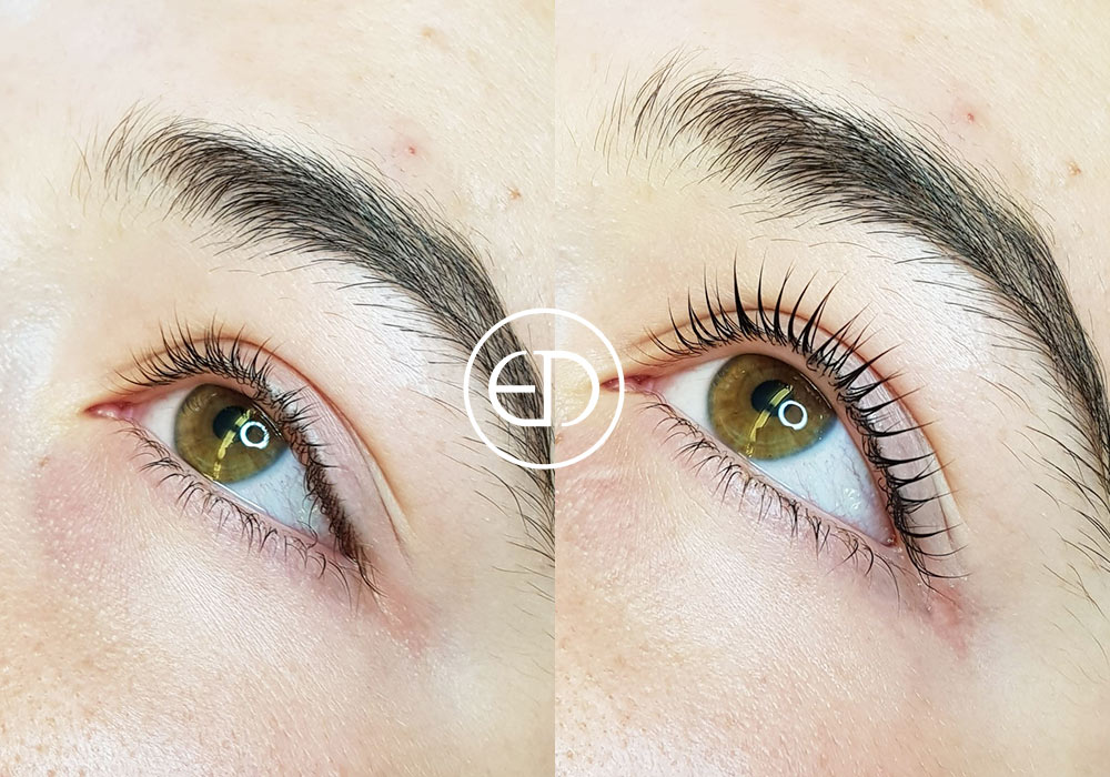 Lash Lift - before and after, Eye Designer