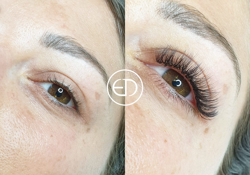 Russian Volume - before and after, Eye Designer