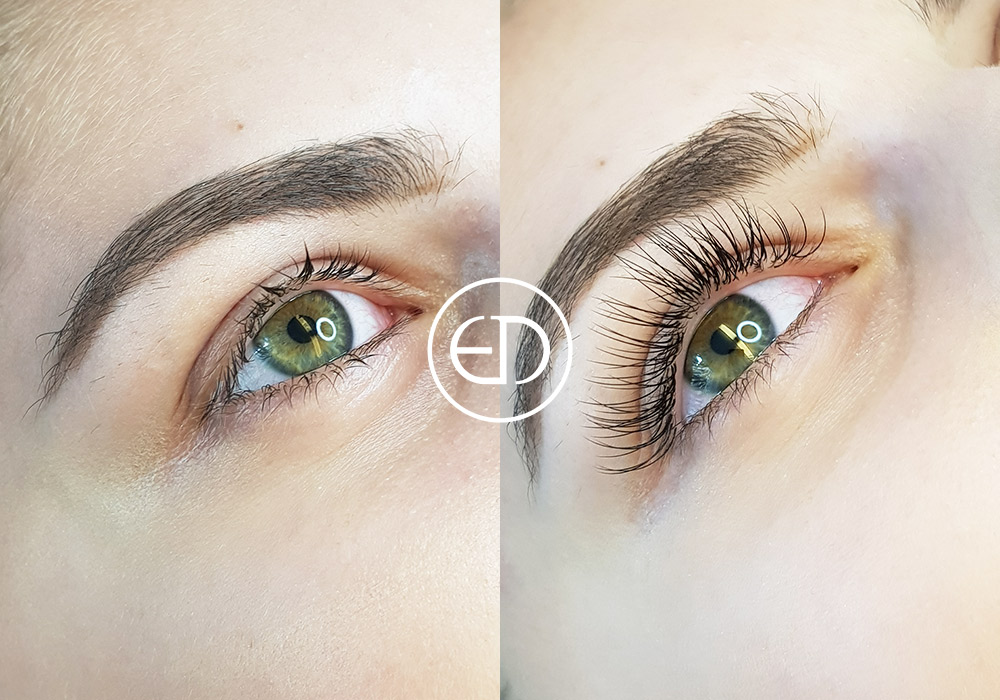 Eyelash Extensions - before and after, Eye Designer