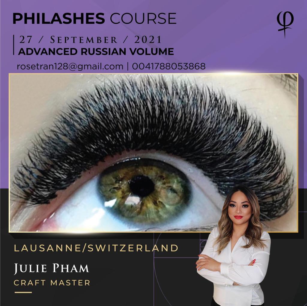 PhiLashes, Volume Russe Débutants, formation, course, cours, Avancé, Eye Designer, PhiAcademy